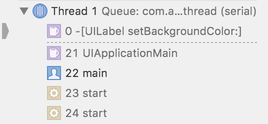 Stack trace: main -> UIApplicationMain -> setBackgroundColor