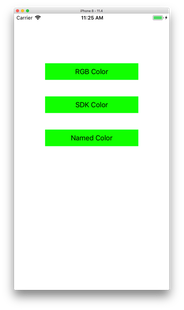 App screen with three green buttons